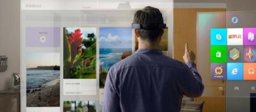 HoloLens em Funcionamento
