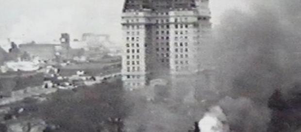 Ataques aéreos en pleno centro de la ciudad