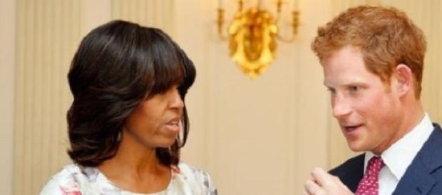 Príncipe Harry e Michelle Obama