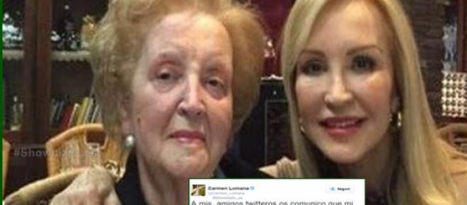 Muere la madre de Carmen Lomana