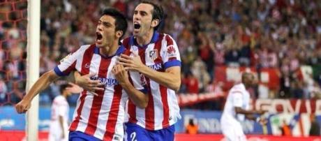 Raúl Jiménez a festejar o golo pelo Atlético