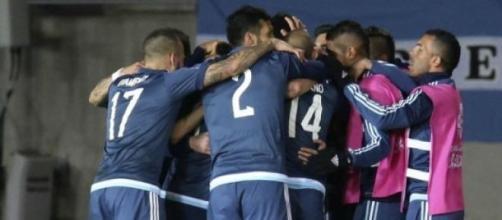 Argentina festeja el gol de la victoria
