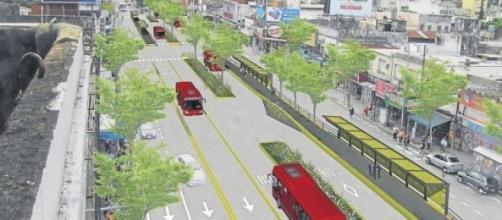 Imagen que simula el Metrobus Norte