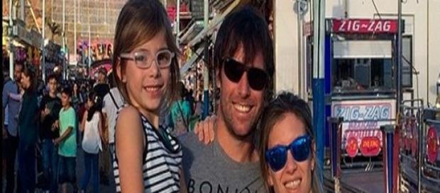 Cavenaghi junto a su familia