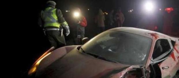 Ferrari do chileno colidiu com outra viatura