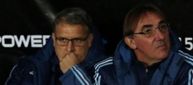 Martino y Pautasso, juntos en el banco