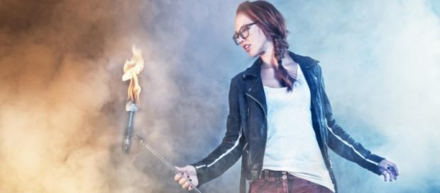 Stefanie Heinzmann macht den Soundcheck