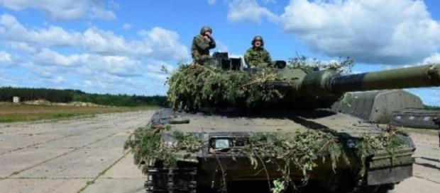 tank américain abrams lors de Saber Strike 2014