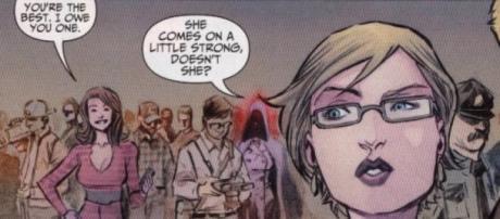 Patty Spinovat et Barry Allen dans les comics.