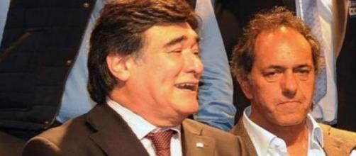 Carlos A. Zannini junto a Daniel Scioli