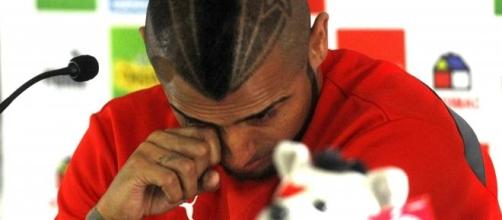 Le lacrime di Vidal dopo l'incidente in Cile