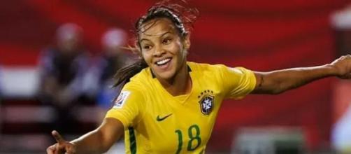 Raquel Fernandes, autora do único gol