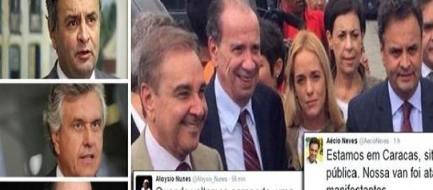 Comitiva de senadores é hostilizada na Venezuela