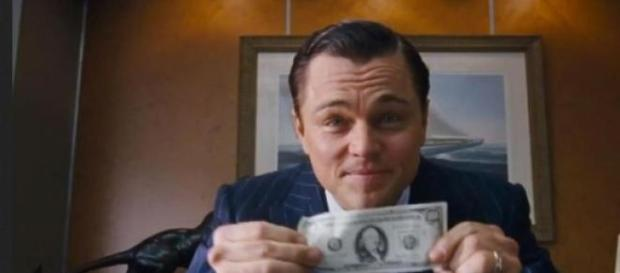 "Fotograma de la película ""The wolf of wall street"""