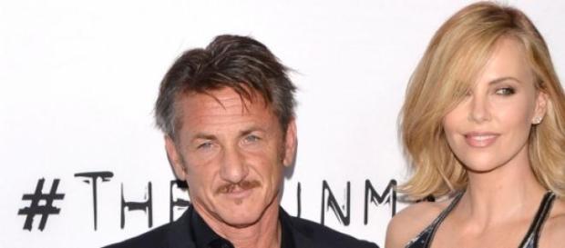 La pareja de actores Sean Penn y Charlize Theron