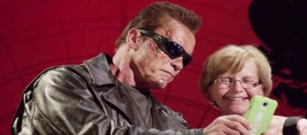 The Terminator took selfies with fans