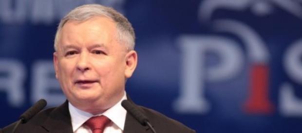 Jarosław Kaczyński na mównicy
