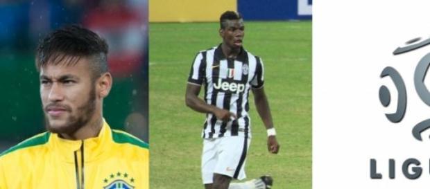 Neymar, Paul Pogba et la Ligue 1