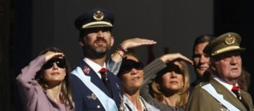 Miembros de la Monarquía en un acto público