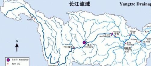 Planimetria del fiume Yangtze