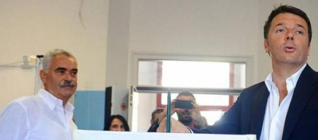Il premier Matteo Renzi al voto