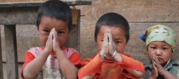 Katmandu - Crianças Nepalesas