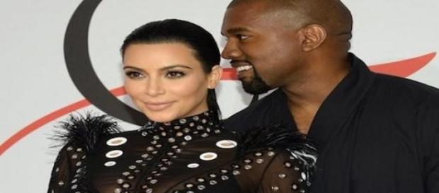 Kim Kardashian et Kanye West aux CFDA à New York.