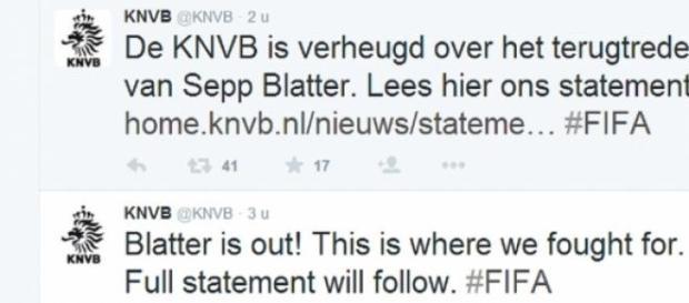 Pierwsza reakcja KNVB na Twitterze