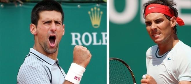 ovak Djokovic face à Rafael Nadal en 1/4 finale