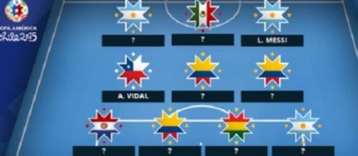 Copa America / 2e équipe-type : Messi et Vidal  !