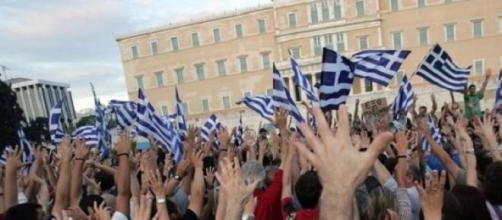 Una manifestazione in Piazza Syntagma, Atene