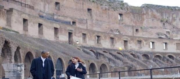 Obama durante la visita al Colosseo lo scorso anno