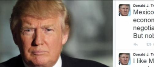 "Donald Trump twitea ""Me gusta México..."""