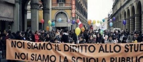 Una manifestazione contro la Buona Scuola