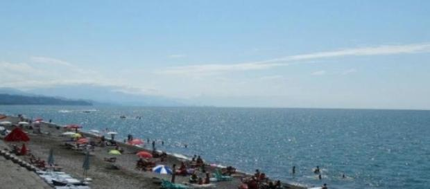 Plaża w Kobuleti, słońce i wspaniała pogoda