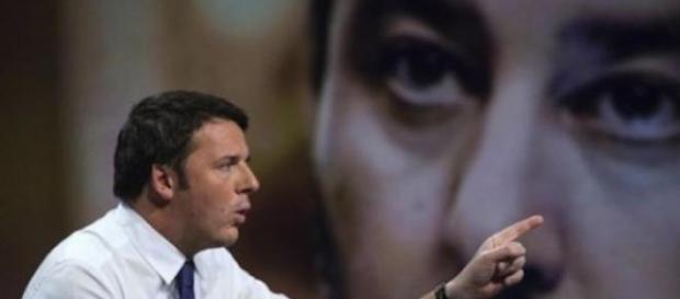 Renzi con Salvini sullo sfondo