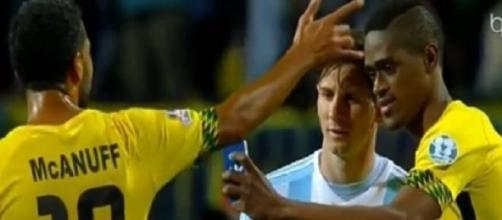 Copa America 2015, selfie con Messi