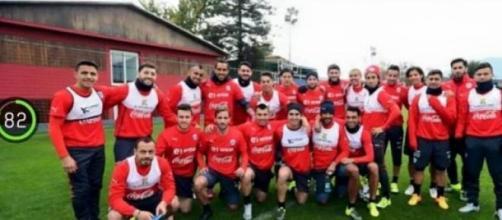 Treino da seleção do Chile