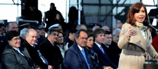 Zannini, Scioli y Cristina Fernández