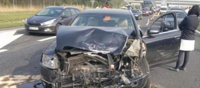 Drogowy horror na autostradzie A4 w okolicach Brzegu