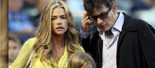 Charlie Sheen et Denise Richards