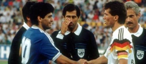 Maradona e Matthaus nella finale