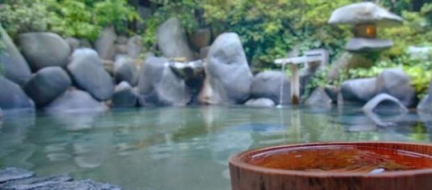 Baño termal al aire libre en Kinosaki Onsen
