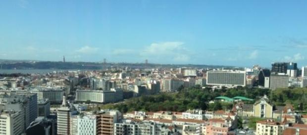 Vista para a cidade de Lisboa.