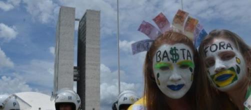Manifestação em Brasília contra a corrupção.