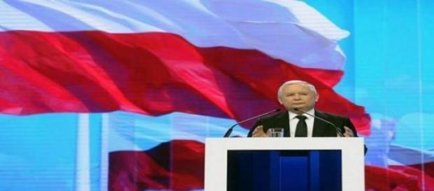 Jarosław Kaczyński w czasie Konwencji PiS