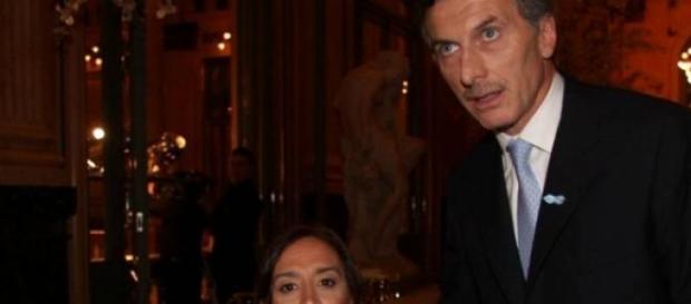 Macri y su compañera de fórmula, Gabriela Michetti