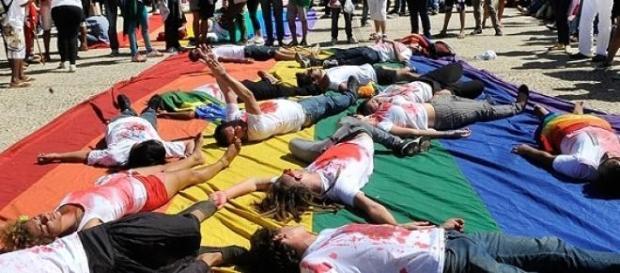 Manifestação em Brasília contra homofobia