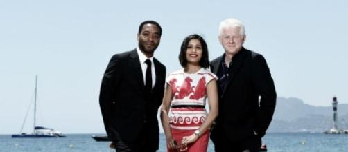 Freida Pinto, Chiwetel Ejiofor and Richard Curtis