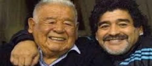 Maradona padre e hijo juntos
